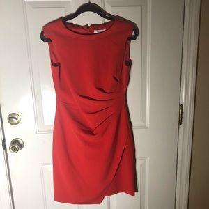 White House Black Market, coral sleeveless dress.